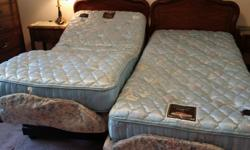 A pair of single adjustable bed Good condition part of estate sales Asking $550 or best offer