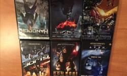 This is a great set of 6 DVD Movies Hancock The Dark Knight Transformers-Revenge of the Fallen GiJOE- Rise of the Cobra Ironman Heat
