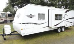 Selling our 2005 Aerolite Trailer. Model is RGSL. 26 feet long (29 feet from bumper to tongue) Great trailer for families, sleeps 6 Dual fuel hot water tank (propane/electric) Huge storage in the rear and lots of storage underneath and inside. Great