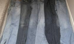 GIRLS JEANS! **FROM LEFT** 1ST PAIR-CHILDRENS PLACE SIZE 10 =$5.00 2ND PAIR-CHILDRENS PLACE SIZE 10 =$5.00 3RD PAIR-OLD NAVY SUPER SKINNY SIZE 10 = $5.00 4TH PAIR-OLDNAVY BOOTCUT SIZE 12 =$5.00 5TH PAIR-OLDNAVY SIZE 12 BOOTCUT =$5.00 6TH PAIR -AEROPOSTALE
