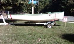 Canadian-made Albacore. Hull serial number 4536. Air-tight flotation tanks, new hiking straps, wood foils (rudder and c/board), tapered racing mast, main sheet traveller, boom vang, spreader covers.  Sails (main and jib) recently overhauled by Sobstads in