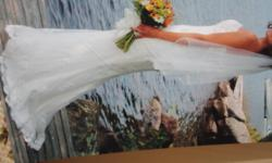 Excellent Condition Measurements are in one of the pictures listed Veil Included Professionally cleaned and enclosed in box