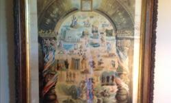 """Very old picture of the All Seeing Eye. Measures 35"""" X 27"""""""