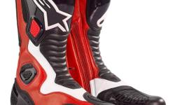 Brand New Alpinestars S-MX 5 Boots   Colour: Red/Black/White Size: 9US Colour: Black Sizes: 10.5US, 9.5US $259.95   The S-MX 5 has been created as a performance road and track boot, incorporating the latest technical footwear design and material know-how.