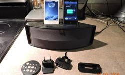 *Altec Lansing M202 Dual-Charging iPod and designed for iPhone 4S and older with Remote control with interchangeable plugs Canada+2 Europeen *Belkin N+ Wireless Router European Connection with Canadian Adaptor. Works very well. $10.00