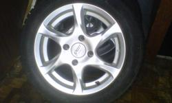 Selling my winter tires bought a new car and they don't fit.. Used for maybe 2 months last winter.. they are Altimax Arctic 195 / 55 R15 studded tires on Sports Edition rims payed $1300 new.. they are mint.   Call me at 807 630 0228 ask for Martin