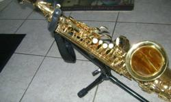 I am looking to sell my J. Micheal alto saxophone this sax is in mint shape and has just been cleaned and tuned. It is great for beginner students it comes with case stand mouth piece and cleaning kit. The only reason i am selling it is my newborn doesn't