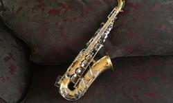 We have a Yamaha YAS-200ADII alto saxophone in a hard case. Beautiful condition. Paid over $1400 at Tom Lee Music new. Includes neck strap, 2 cleaning cloths, and a new box of 10 Rico #3 reeds. We hope the musician in your family enjoys it!