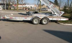 Custom Cargo Concept Inc. Biggest trailers inventory in Barrie   Manufacturer: Savage Trailers ALUMINUM TILT FLAT BED 80''x20' Tandem axle GVWR: 4454KG Trailer weight : 704KG (1548LBS) Axles: 5000lbs each Galvanized wheels 5 years warranty on trailer 5