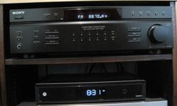 SONY. STR-DE197 Receiver/Amplifier.Used to amplify external TV- speakers.In good condition.