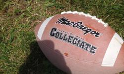 Collegiate football for sale. Asking $5.