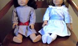 """IN MINT CONDITION! American Girl Best Friends Samantha & Nellie - Beautiful 18"""" Dolls With lovely Silky Hair Easy To Comb Original Dresses. Samantha & Nellie Are Retired Dolls . Were Purchased Together . Nice Gift For Little Sisters Or Best Friend"""