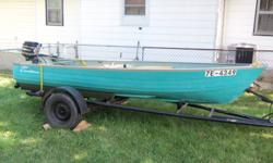 The Boat Includes: Trailer, Gas Tank, Gas Can, And Two Oars. $500 Firm If We dont answer the phone Call 519-401-3998 Thanx!
