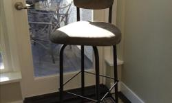 """5 Amisco Swivel Bar stools - spectator height (34"""") Changed our kitchen decor ... Custom made"""