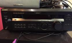 Sony amplifier 4 Harman Kardon speakers Polk Subwoofer (2 years old but not working, can likely be repaired)