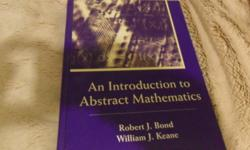 I'm selling my second year mathematical reasoning textbook by Robert Bond and William Keane for $60.00. Call, text or email me if your interested 705-931-5309
