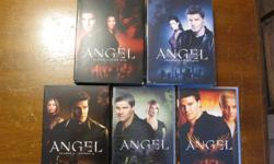 Perfect gift for the Joss Whedon or vampire fan on your list. $25 for the entire series of Angel on 5 season DVD box sets. Angel season 1 Angel season 2 Angel season 3 Angel season 4 Angel season 5 All for $25, or buy as part of a larger collection of
