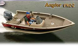 The Angler V162 series sets a new standard for fishermen looking for an economical choice in fully-featured, fuel-efficient models. G3 and Yamaha technology combine in three popular wide-body layouts to provide your choice of affordable mid-sized models.