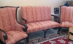 Antique Settee with 2 chairs. Excellent condition.   Due to all the scams that are happening. I must insist that  if you wish to purchase this settee and chairs. It must be in person with cash as payment.  Thank you.