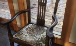 ANTIQUE COUNTRY ARMCHAIR FROM THE 1800S ALL ORIGINAL