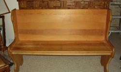 Antique pine bench. Ideal for foyer, mudroom, dinette...Good condition. Dimensions: 54 in long, 17 in. high to sitting area, 17 deep.