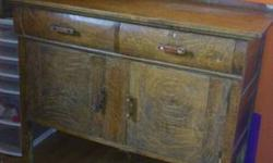 """Beautiful piece, not sure on the age. Needs a little TLC 48 1/2"""" wide 21 1/2"""" deep 39"""" tall"""