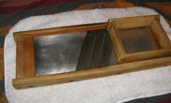 """Antique cabbage shredder.  Approx 1 1/2 to 2ft  long by 3"""" high.  Good for cabbage shredding for example in the making of sauerkraut.                              Tel 344-8732"""