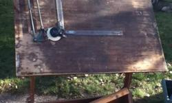 This was my great grandfathers drafting table Everything you see on the ground with the table comes with it.   Make me an offer Pick up in Bradford 647 217 3223
