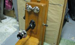 Restored antique Kellog wall phone. Dial was added and is functioning.   $350.00 firm Markham Rd/HWY 7   416 576 8876