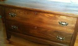 Blanket box style oak cabinet with two drawers in great condition. This ad was posted with the Kijiji Classifieds app.