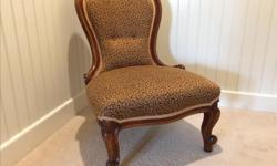 Beautiful antique Parlour Chair. Victorian. Gorgeous chair for the right room! Bought at auction for $700 and re-upholstered for $300!