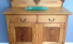 *Reduced from $375* Dovetail joinery on the drawers, all the original hardware and castors are intact and overall, this is in fantastic and fully functional condition.This isn't a typical washstand, as it's larger than most. Could be used as a dresser or