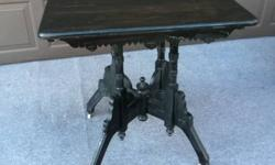 Beautiful antique table. Still on the original casters. In great shape. Please see photos.