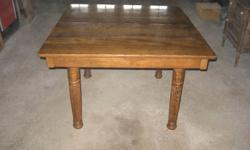 Century old dinning room table with 3 leafs.