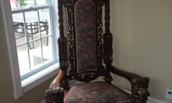 Antique Throne Chair - beautiful chair. Similar chairs selling for $3,990.00+