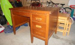 Very strudy wooden desk. Real Wood.