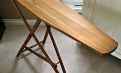 """Near perfect condition - I used it for decoration purposes only. It makes for a great plant stand, signing stand, etc. The wood is not finished and has not warped at all.\Approx. 41"""" long x 11"""" Wide x 31"""" Tall"""