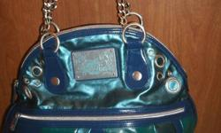 Beautiful Large Apple Bottoms Handbag by Nelly in gorgeous turquoise/blue colors with silver silk inside lining. Only slightly used in perfect condition. Great size bag! $35.00