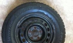 2 arctic claw tires mounted on GM 5 bolt rims. Only reason for selling is i found a set of 4 after buying these. Tires only have 1 season on them and look almost new. Tires are 215/70/15. Price has been lowered i want these gone This ad was posted with