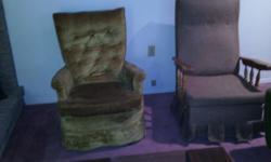 Gold Swivel Arm Chair
