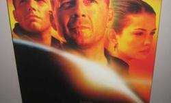 """One mounted movie picture (Armageddon).  Features the Plakmount process (vinyl laminate coating that is washable).  Hang from a 1"""" finishing nail.  - some nicks in the corner - barely noticeable.  Original owner.  Comes from smoke free home. ?"""