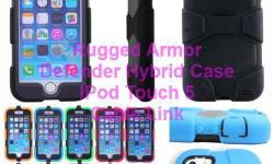 Armor Heavy Duty Defender Hybrid Case for IPod Touch 5 -Heavy duty dual layer hybrid, double protection -Item Material: Rigid Plasitc+TPU/Gel -Iem Condition: New -Compatible Model: For Apple IPod Touch 5 -New design and nice snug fit! -Allows better
