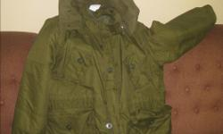 Two Army Parka one new and second just like new size X-Large Regular and second 7-Long Small asking $ 40.00 ea. (X-Large Regular is SOLD)