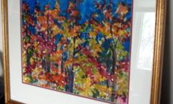 """Art - Fall Leaves - Original Watercolour by Raija Signed Date: 1999 High Quality, Professionally Framed Framed size: 21.5"""" x 18"""" Mint Condition as shown, see pictures Asking $499 -Excellent Condition -Clean -Non-smoking home Please e-mail and leave phone"""