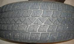 Size: 225 60R 17 Rims Fit: 2008 Nissan Rogue, (Will also fit Toyota Rav, or Honda CRV Bolt Pattern: 514.5 bolt cirlce (5 on 111.3) Tire outside diameter - 25.9 Excellent condition 80% + tread never any flats