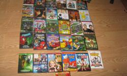 Assorted Childrens DVDS 1) Hot Wheels Acceleracers IGNITION (cartoon) 2) The AntBully 3) Jim Carry - How the Grinch Stole Christmas 4) Spongebob Squarepants - Absorbing Favorites 5) Stuart Little (Deluxe Edition) 6) Stuart Little 2 (Special Edition) 7)