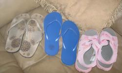 Assorted Girls Sandals Brand New Blue slip-on sandals - size 6 - $5 *** SOLD *** AND / OR Brown floral slip-on sandals - size 6 - $5 AND / OR Pink sandals - size 3 - $10 can meet in west end of ottawa (kanata) or pickup in Constance Bay