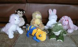 Assorted WebKinz stuffed animals - no codes attached - all for only $15. The collection includes: Chamelion Love Spaniel Chimp Pink White Cat Frog Lioness Rabbit Li'l Kinz Canary - not pictured From a smoke free, pet free home. They are washed and clean.