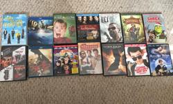 All are $2 each or all for $20 Titles include: How I Met Your Mother - Season 5 Natures Most Amazing Events (BBC Earth) Home Alone Les Miserable Blueray The Book of Eli Spiderwick Shrek The Halls Oceans Series (11,11,12,13) 300 Hotel Transylvania The