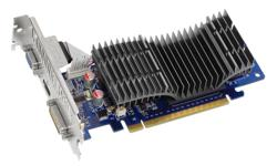 An ASUS model EN8400GS Silent video card. This card is Brand New and still in the box, has never been slotted. Equipped with 512MB DDR2 video RAM and has one each VGA, DVI, and HDMI outputs. Requires an available empty PCI-Ex16 slot on your motherboard --